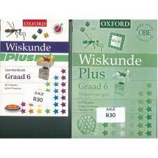 Oxford Wiskunde Plus Graad 6 Leederboek  + Onderwysersgids - SET OF 2 BOOKS